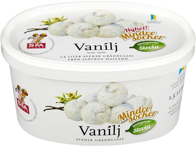 vaniljglass utan socker